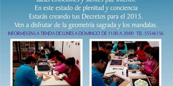 """Taller """"CREANDO MIS DECRETOS CON MANDALAS"""" 17 enero 2015"""