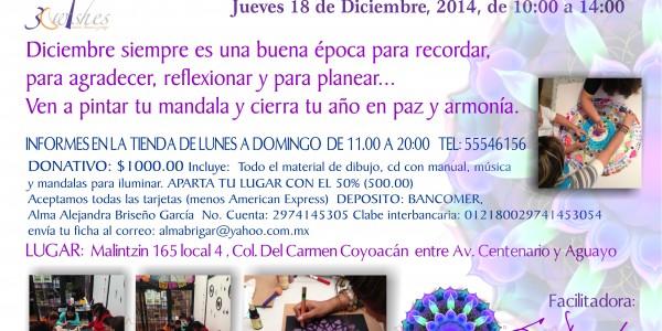 Taller Mandalas CERRANDO CÍCLOS | 18 dic 2014